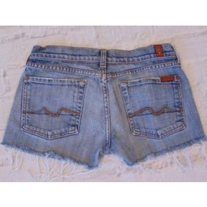 7 Seven for All Mankind Jean Denim Shorts Fraying